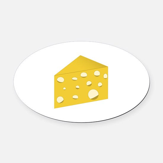 Swiss Cheese Oval Car Magnet