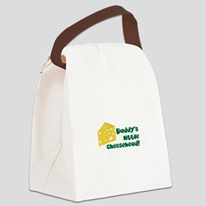 Daddy's little cheesehead! Canvas Lunch Bag