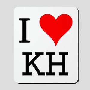 I Love KH Mousepad