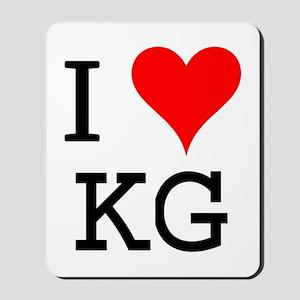 I Love KG Mousepad