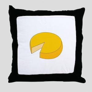 Cheese Wheel Throw Pillow