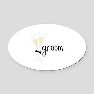 groom Oval Car Magnet