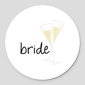 bride Round Car Magnet