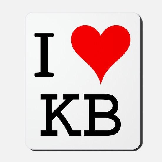 I Love KB Mousepad