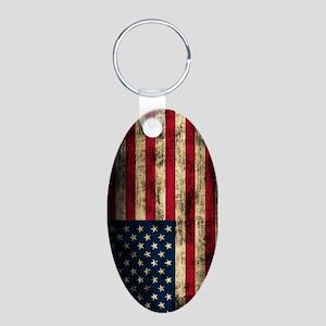 Vintage American Flag Grunge Keychains