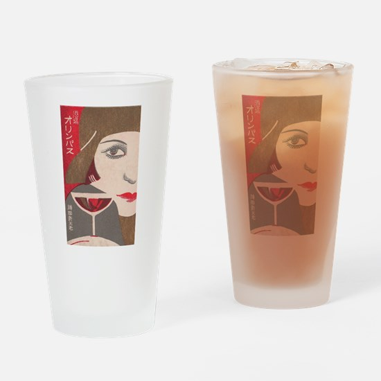 Japan, Flapper, Wine, Vintage Poster Drinking Glas