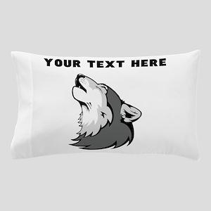Custom Wolf Howling Pillow Case