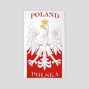 Poland Polska Eagle Flag 3'x5' Area Rug