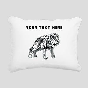 Custom Arctic Wolf Rectangular Canvas Pillow