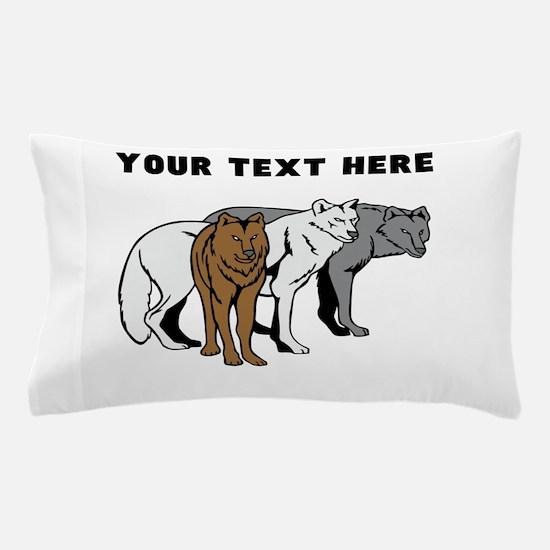 Custom Wolf Pack Pillow Case