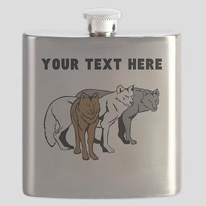 Custom Wolf Pack Flask