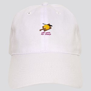 Will Work For Cheese Baseball Cap