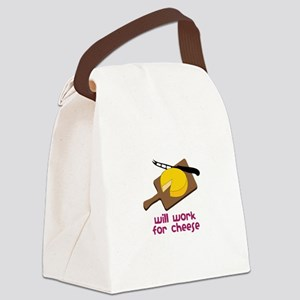 Will Work For Cheese Canvas Lunch Bag