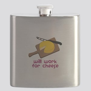 Will Work For Cheese Flask