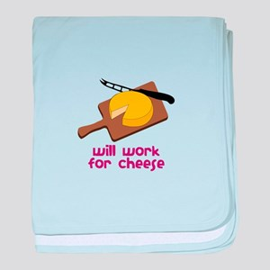 Will Work For Cheese baby blanket