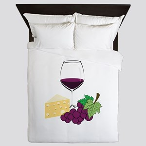 Wine And Cheese Queen Duvet