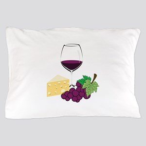 Wine And Cheese Pillow Case