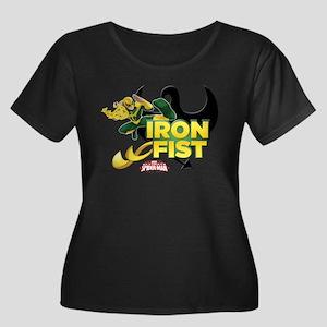 Iron Fis Women's Plus Size Scoop Neck Dark T-Shirt
