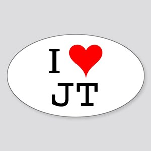 I Love JT Oval Sticker