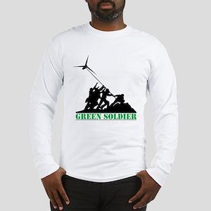 Green Soldier Wind Turbine Long Sleeve T-Shirt