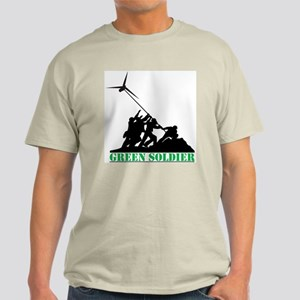 Green Soldier Wind Turbine Light T-Shirt