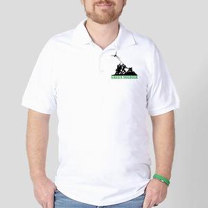 Green Soldier Wind Turbine Golf Shirt