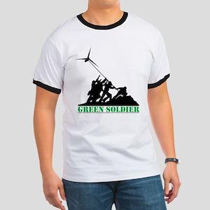 Green Soldier Wind Turbine Ringer T