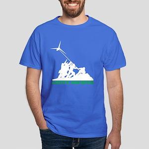 Green Soldier Wind Turbine Dark T-Shirt