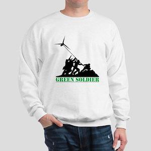 Green Soldier Wind Turbine Sweatshirt