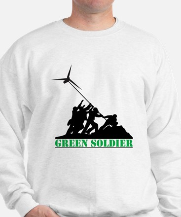 Green Soldier Wind Turbine Sweatshirt