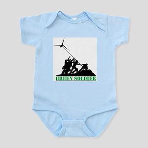 Green Soldier Wind Turbine Infant Bodysuit