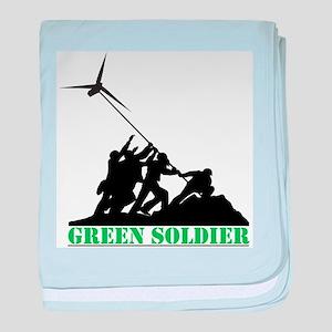 Green Soldier Wind Turbine baby blanket