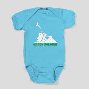 Green Soldier Wind Turbine Baby Bodysuit