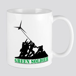 Green Soldier Wind Turbine Mug
