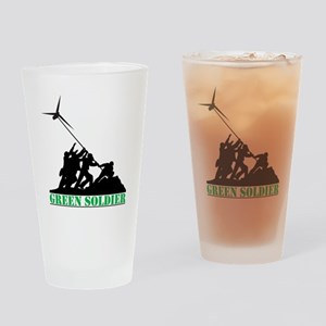 Green Soldier Wind Turbine Drinking Glass