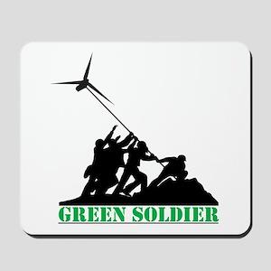 Green Soldier Wind Turbine Mousepad
