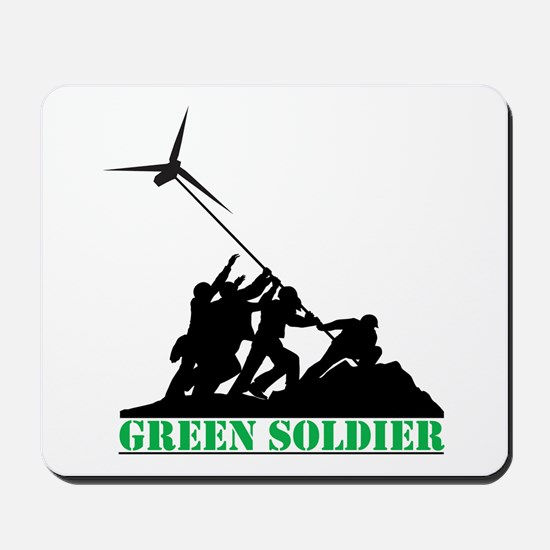 Green Soldier Wind Turbine Mousepad