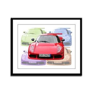 ...Car Crazy... Framed Panel Print