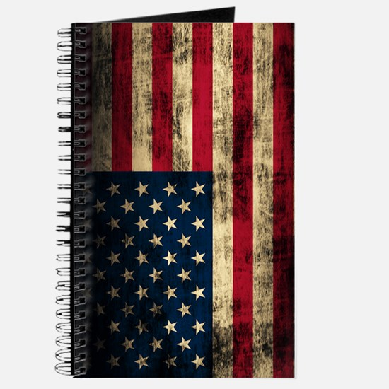 Vintage American Flag Grunge Journal