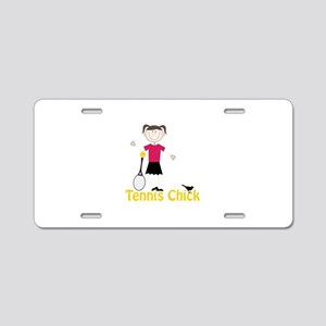 Tennis Chick Aluminum License Plate