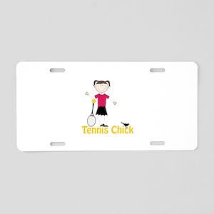 Tennis Chick Aluminum License Plate