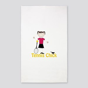 Tennis Chick 3'x5' Area Rug