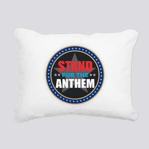 Stand for the Anthem Rectangular Canvas Pillow