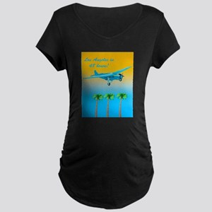 Air Travel Vintage Style Maternity T-Shirt