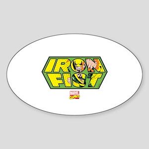 Iron Fist Logo Sticker (Oval)