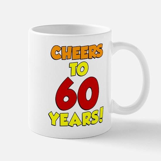 Cheers to 60 Years Glass Mugs
