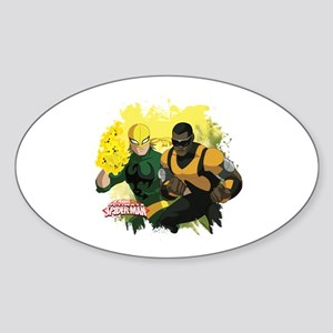 Iron Fist and Luke Cage Sticker (Oval)