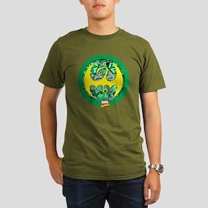 Iron Fist Logo 2 Organic Men's T-Shirt (dark)