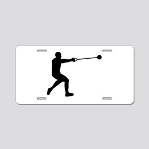 Hammer throw Aluminum License Plate