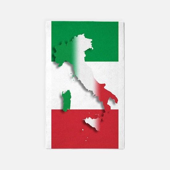 Italy Italian Flag 3'x5' Area Rug